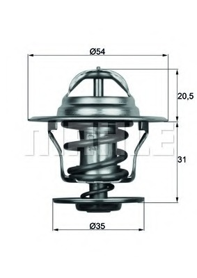 termostat,lichid racire TX 15 87D MAHLE ORIGINAL